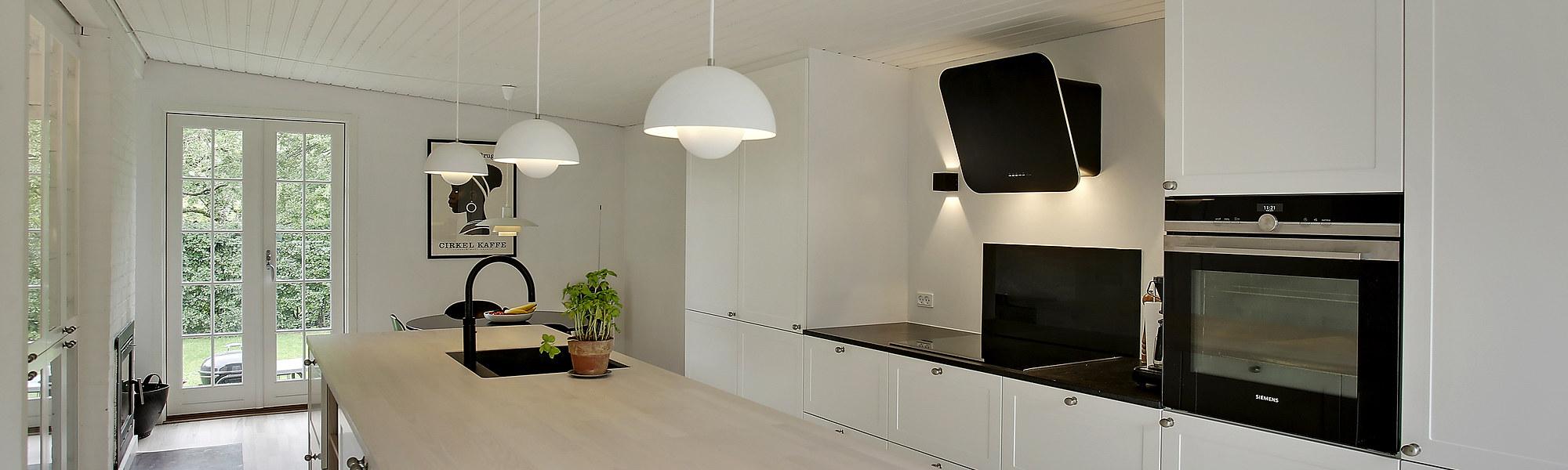 Totalrenovering af køkken og to badeværelser i Gentofte nær Lyngby - håndværker.dk
