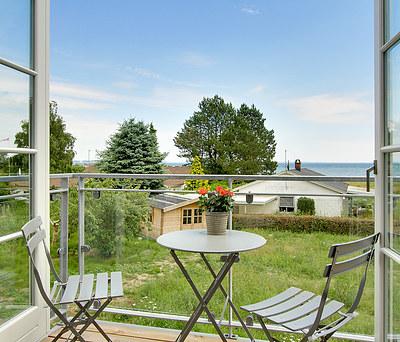 Ny 4 m2 altan i stål og glas til hus i Rørvig, Odsherred