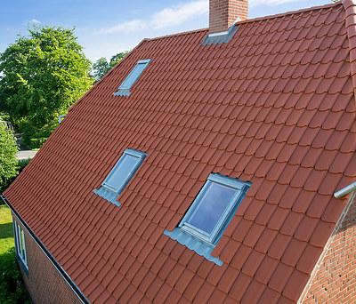 Nyt flot 100 m2 Monier tegltag til hus i Nykøbing Falster