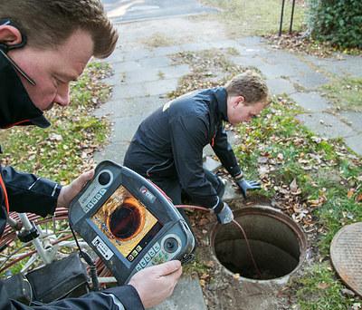 TV-Inspektion af kloak i Gørløse nær Hillerød