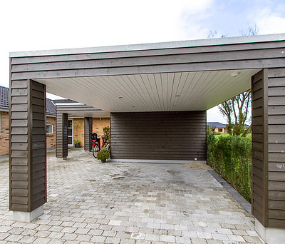 Ny 38 m2 tilbygning og ny carport i Herning