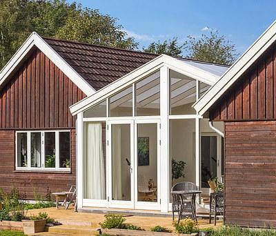 Ny 25 m2 tilbygning med Outrup vinduer i Gilleleje