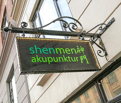 Nyt stålskilt til Shenmen Akupunktur på Nørrebro, København