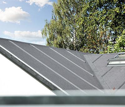 Nyt 200 m2 Icopal listetag, undertag og skorsten i Virum nær Lyngby