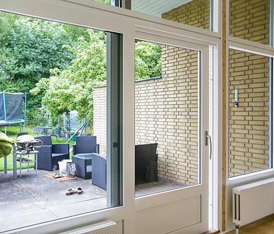 Nyt stort vinduesparti med KPK vinduer til hus i Skælskør nær Korsør