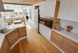 Nyt 70 m2 Junckers egetræsgulv til hus i Greve