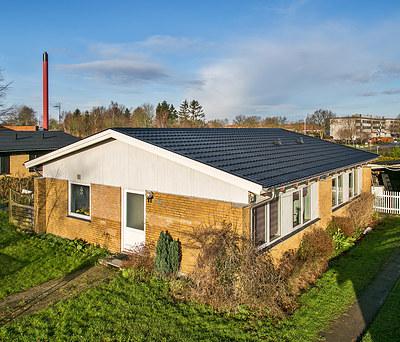 Nyt 130 m2 Decra ståltag fra Icopal til hus i Nordborg nær Sønderborg