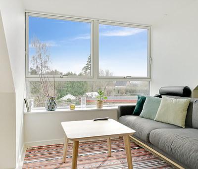 Nyt tag med tegl fra Monier og ny 1. sal med Outrup vinduer i hus i Næstved.