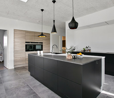 Flot nybygget hus på 200 m2 med Designa køkken i Varde nær Esbjerg