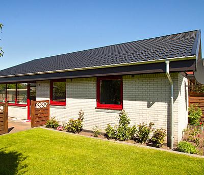 Nyt 166 m2 ståltag fra Profilmetal til hus i Vildbjerg nær Herning