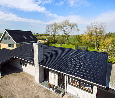 Nyt 210 m2 Profilmetal ståltag til hus i Sønderborg