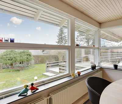 Nye Velfac vinduer til hus i Tranbjerg på Samsø