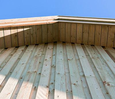 Ny gavl i træ til hus i Haslev nær Næstved