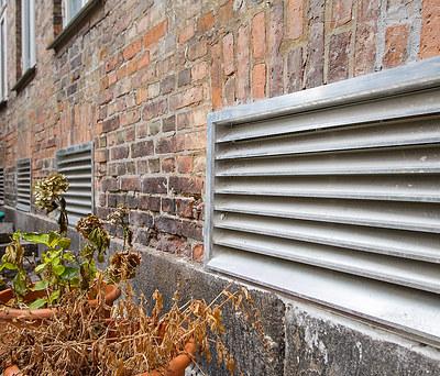 Nye ventilationsskakte til bygning i København