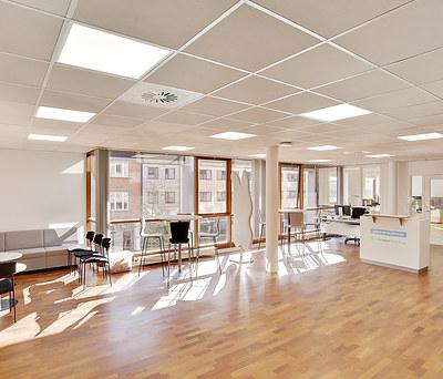 Belysning og data til 450 m2 stort kontor i Århus C