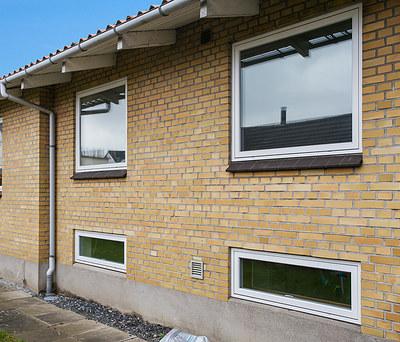 Nye Outrup vinduer og dør til 140 m2 hus i Fredericia