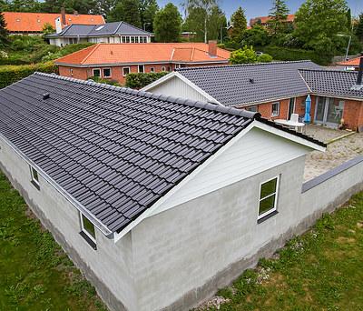 Nyt 90 m2 Monier tegltag og KPK vinduer og døre til tilbygning i Odense