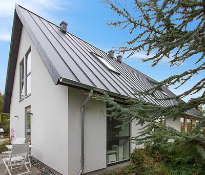 Totalrenovering af hus i Roskilde inkl. nyt Plannja ståltag og nye Velfac vinduer